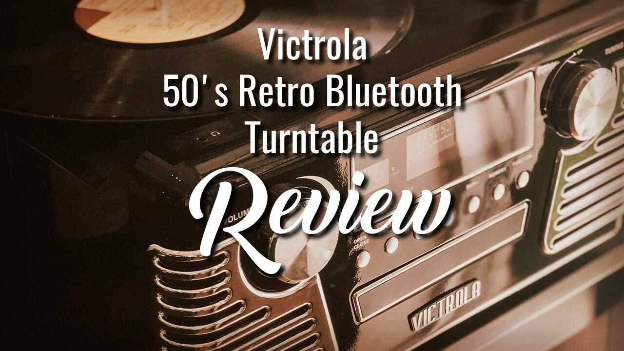 CD Player and Victrola 50/'s Retro 3-Speed Bluetooth Turntable with Stereo